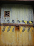 Puerta aherrumbrada de la estrella Imágenes de archivo libres de regalías