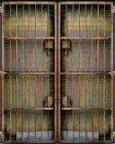 Puerta aherrumbrada del metal imagen de archivo
