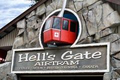 Puerta Airtram, Fraser Canyon, Columbia Británica, Canadá de los infiernos imagen de archivo