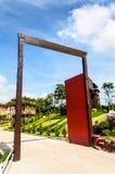 Puerta al centro turístico Imagen de archivo libre de regalías