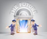Puerta al futuro y a los Doormen Foto de archivo