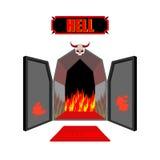 Puerta al infierno Entrada al infierno infernal Tenga acceso a Satanás flam Fotos de archivo libres de regalías