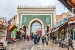 Puerta al Medina en Fes, Marruecos Fotografía de archivo