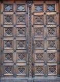 Puerta, al oeste portal de la iglesia de St Mark en Zagreb imagen de archivo libre de regalías