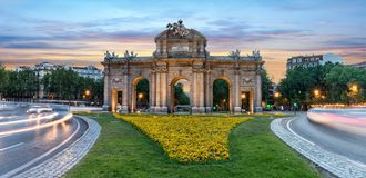 The Puerta Alcala /Alcala Door in Madrid Royalty Free Stock Image