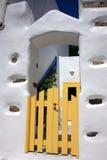 Puerta amarilla Foto de archivo libre de regalías