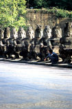 Puerta Angkor Thom, Camboya de la victoria Fotografía de archivo