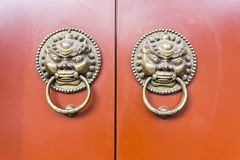 Puerta antigua china fotos de archivo