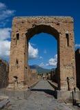 Puerta antigua de la ciudad de Pompeii Foto de archivo