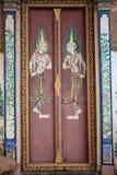 Puerta antigua del templo Fotografía de archivo