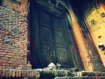 Puerta antigua en Paquistán Imagenes de archivo