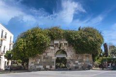 Puerta antigua, isla de Kos Fotos de archivo libres de regalías