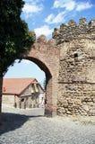 Puerta antigua a la ciudad de Signagi Imágenes de archivo libres de regalías