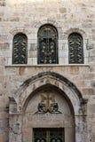 Puerta armenia de la iglesia, Jerusalén Fotos de archivo