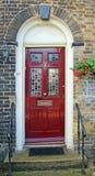 Puerta artesonada del vidrio victoriano Imagen de archivo libre de regalías