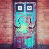 Puerta artsy imagenes de archivo