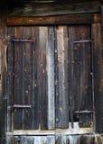 Puerta austríaca tradicional de la granja imágenes de archivo libres de regalías