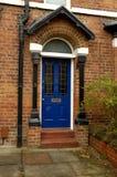 Puerta azul Foto de archivo libre de regalías