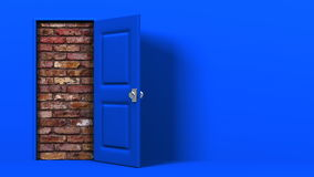 Puerta azul libre illustration