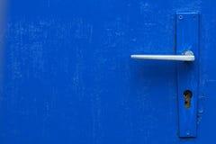 Puerta azul Fotos de archivo libres de regalías