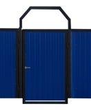 Puerta azul aislada Imágenes de archivo libres de regalías
