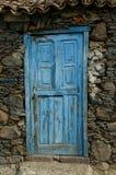 Puerta azul clara vieja Imagen de archivo