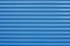Puerta azul del acero del balanceo Imagenes de archivo