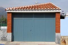 Puerta azul del metal Foto de archivo libre de regalías