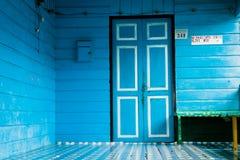 Puerta azul en Brunei Imágenes de archivo libres de regalías