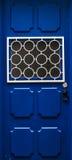 Puerta azul hermosa Imagen de archivo libre de regalías