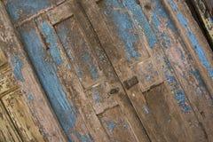 Puerta azul resistida Fotografía de archivo libre de regalías