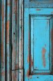 Puerta azul vieja Foto de archivo libre de regalías