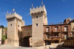 Puerta baja low door in medieval town of Daroca, Zaragoza prov. Ince, Aragon,Spain Stock Photography