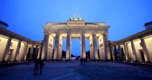 Puerta Berlín de Timelapse Brandeburgo metrajes