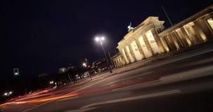 Puerta Berlín de Timelapse Brandeburgo almacen de metraje de vídeo