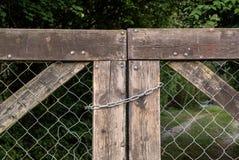 Puerta bloqueada Imágenes de archivo libres de regalías