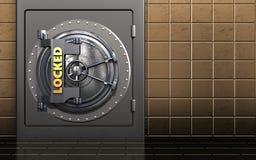 puerta bloqueada de la cámara acorazada de la puerta bloqueada de la cámara acorazada 3d stock de ilustración