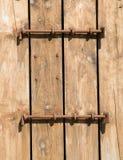 Puerta bloqueada de la casa de barco tradicional Foto de archivo libre de regalías