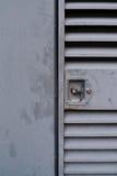 Puerta bloqueada metálica Fotos de archivo libres de regalías