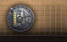 puerta bloqueada segura de la cámara acorazada 3d libre illustration