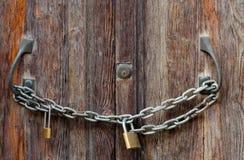 A puerta cerrada Fotografía de archivo libre de regalías