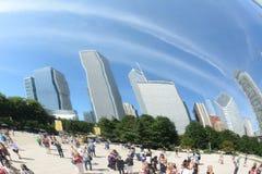 PUERTA CHICAGO DE LA NUBE Imagen de archivo libre de regalías