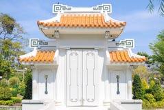 Puerta china Foto de archivo libre de regalías