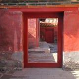 Puerta china antigua Foto de archivo libre de regalías