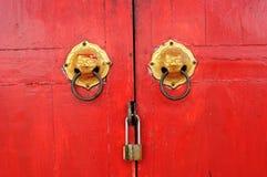 Puerta china de la capilla Fotos de archivo