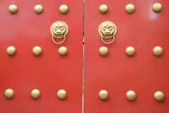 Puerta china del palacio Imagen de archivo libre de regalías