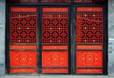 Puerta china roja Foto de archivo libre de regalías