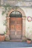 Puerta clásica Fotografía de archivo libre de regalías