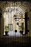 Puerta clásica del hierro Foto de archivo libre de regalías