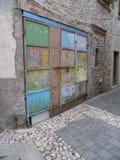 Puerta coloreada Foto de archivo libre de regalías